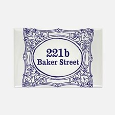 221b Baker Street Rectangle Magnet