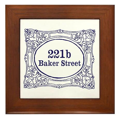 221b Baker Street Framed Tile