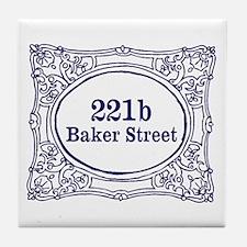 221b Baker Street Tile Coaster