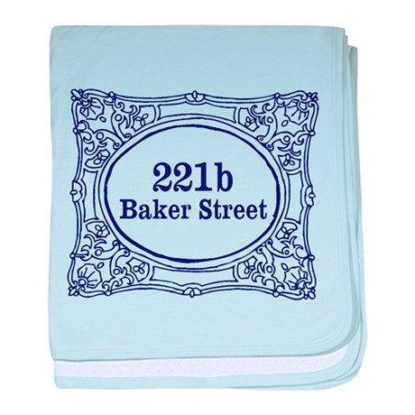 221b Baker Street baby blanket