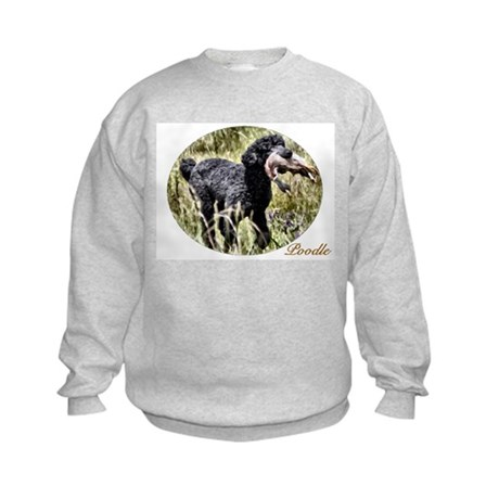 Black Poodle Kids Sweatshirt