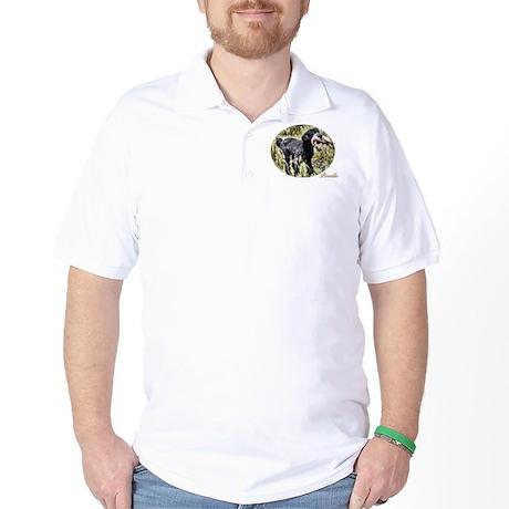 Black Poodle Golf Shirt
