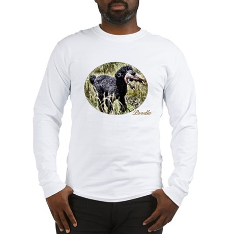 Black Poodle Long Sleeve T-Shirt
