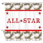 Baseball All-Star Shower Curtain