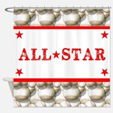 Baseball All-Star Shower Curtain