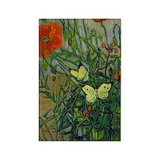 Van Gogh - Butterflies Rectangle Magnet