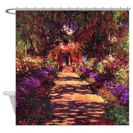 Path In Monet's Garden Shower Curtain