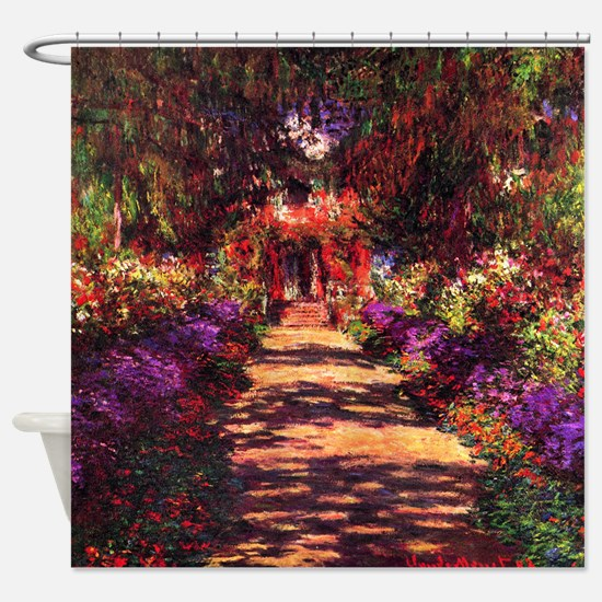 Path In Monet's Garden Shower Curtain