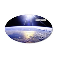 Earth from the Space Station 20x12 Oval Wall Decal