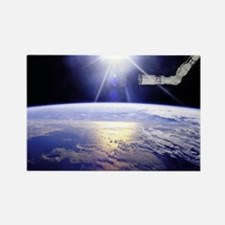 Earth from the Space Station Rectangle Magnet