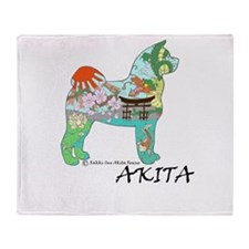 Akita National Treasure Throw Blanket