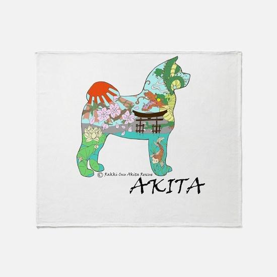 Akita National Treasure Throw Blanket
