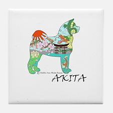 Akita National Treasure Tile Coaster
