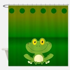 Cute Frog Shower Curtain