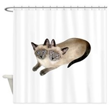 Siamese Twins Shower Curtain