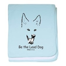 Be the Lead Dog Paws4Critters Dog baby blanket