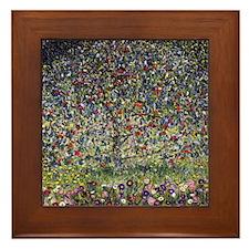 Gustav Klimt Apple Tree Framed Tile