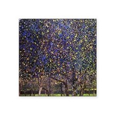 "Gustav Klimt Pear Tree Square Sticker 3"" x 3"""