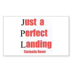 Mars Curiosity Rover Landing Sticker (Rectangle)