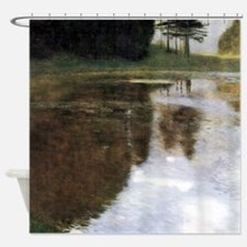 Gustav Klimt Quiet Pond Shower Curtain