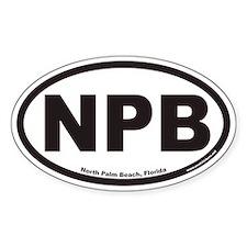 North Palm Beach NPB Euro Oval Decal