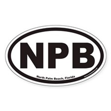 North Palm Beach NPB Euro Oval Stickers