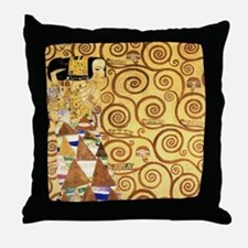 Gustav Klimt the Expectance Throw Pillow
