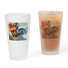 Wake Up Rooster Drinking Glass
