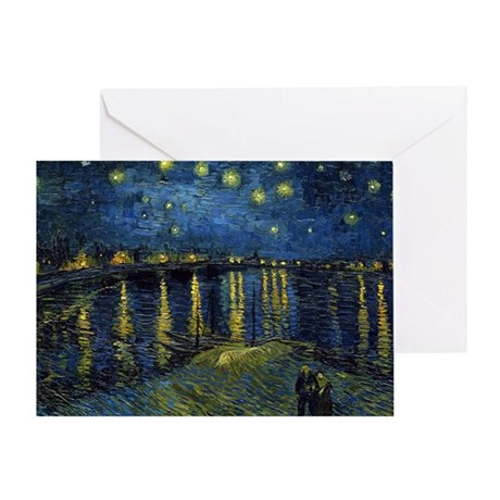Van Gogh - Rhone Greeting Card