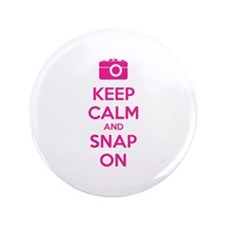 "Keep calm and snap on 3.5"" Button"