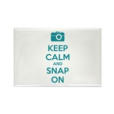 Keep calm and snap on Rectangle Magnet