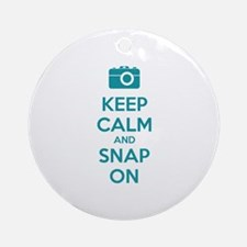 Keep calm and snap on Ornament (Round)