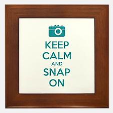 Keep calm and snap on Framed Tile