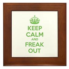 Keep calm and freak out Framed Tile
