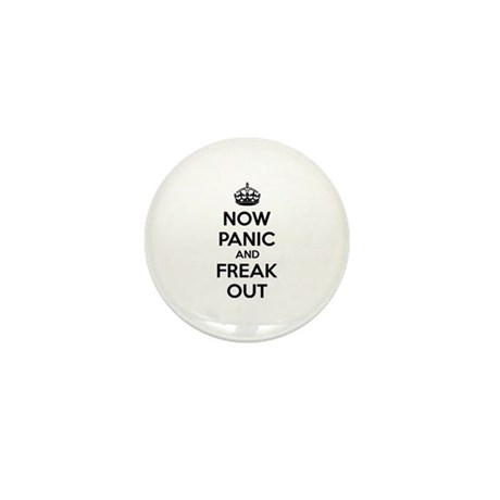 Now paninc and freak out Mini Button (100 pack)