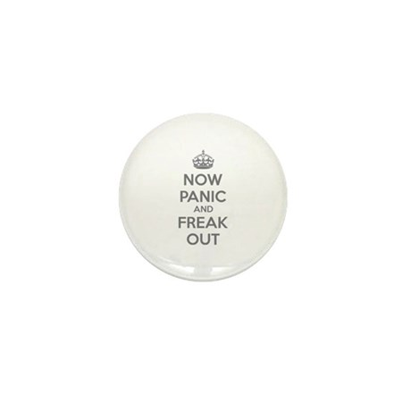 Now paninc and freak out Mini Button (10 pack)