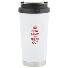 Now paninc and freak out Travel Mug