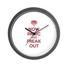 Now paninc and freak out Wall Clock