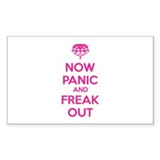 Now paninc and freak out Decal