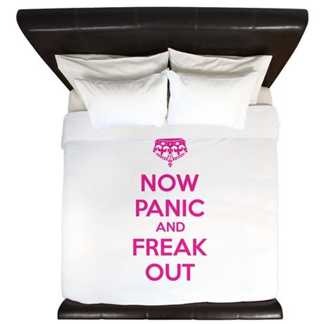 Now paninc and freak out King Duvet