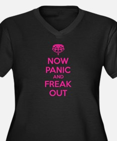 Now paninc and freak out Women's Plus Size V-Neck