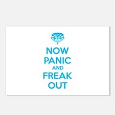 Now paninc and freak out Postcards (Package of 8)