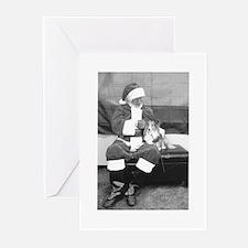 Santa And Sheltie Christmas (pk Of Greeting Cards