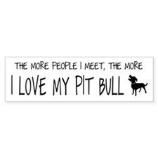 The More I love my PB PRODUCT.png Bumper Sticker
