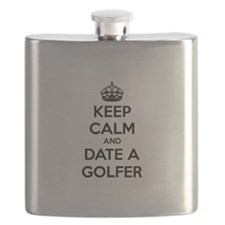 Keep calm and date a golfer Flask