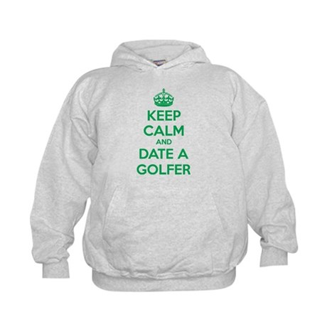 Keep calm and date a golfer Kids Hoodie