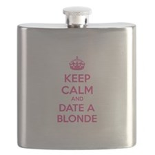 Keep calm and date a blonde Flask