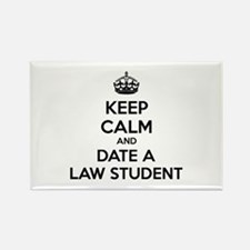Keep calm and date a law student Rectangle Magnet