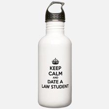 Keep calm and date a law student Water Bottle
