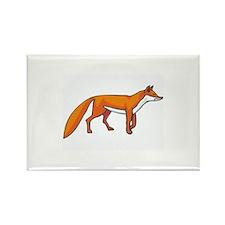 Fox Rectangle Magnet
